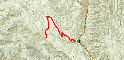 Brophy Canyon to Bear Creek Trail Map