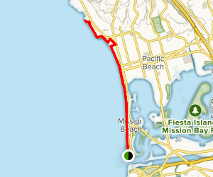 Ocean Front Walk: Mission to Bird Rock Map