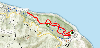 Carquinez Loop Overlook Trail and Bull Valley Trail Map