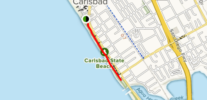 Carlsbad Sea Wall Trail Map