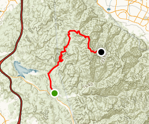 Pleasants Peak - North Main Divide Traverse Map