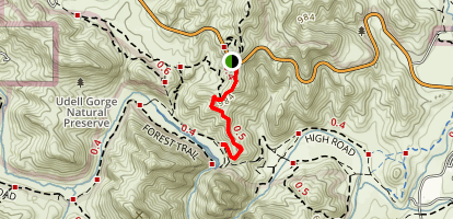 Cistern Trail to Lookout Trail Map