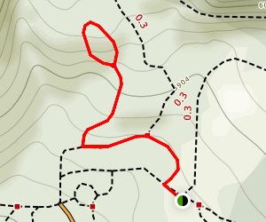 Half Knob Trail Map