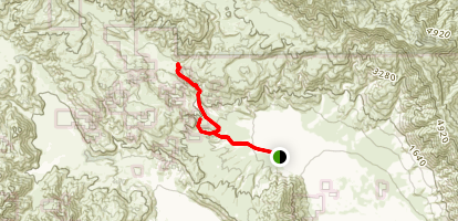 Jackass Flat & Butler Canyon Trail Map