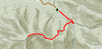 West Kill Mountain to Buck Ridge Lookout Map