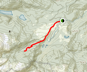 Emmaline Lake Trail to Cirque Meadows Map