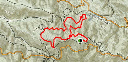 Boy Scout Trail Loop Via Jackson Flat Campground Map
