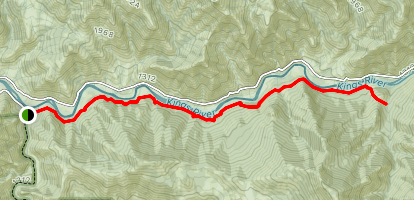 Kings River Trail Map