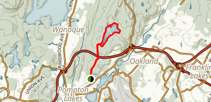 Cannonball Trail to Ramapo Lake Map