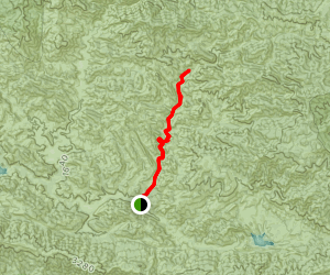 Big Caliente Spring Trail [CLOSED] Map