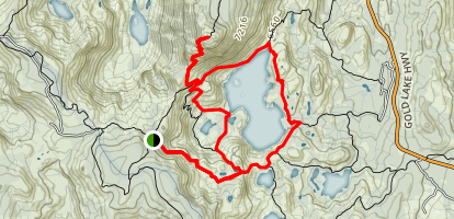 Mount Elwell Loop Trail Map