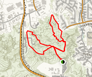 Golden Valley Trails Map
