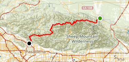 Angeles Crest Scenic Byway Map