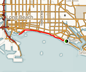 Long Beach Shoreline Bike Path Map