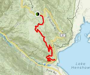Love Valley Trail Map