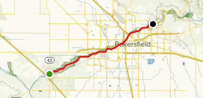 Kern River Parkway Trail Map