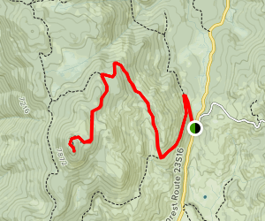 Tobias Peak Trail Map
