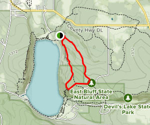 East Bluff  and East Bluff Woods Trail Loop Map