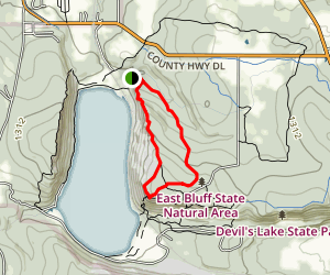East Bluff Trail Loop Map