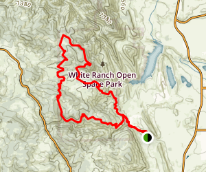 White Ranch Open Space Outside Loop Map