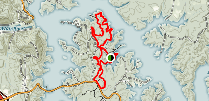 Red Top Mountain Loop Trail Map
