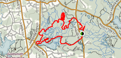 Harold Parker Field Pond Loop Trail Map
