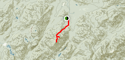 Algonquin Peak and Wright Peak via Algonquin Trail Map
