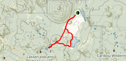 Lower Twin and Snag Lakes Loop Trail Map