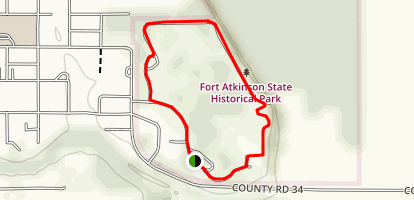Fort Atkinson State Historical Park trail Map