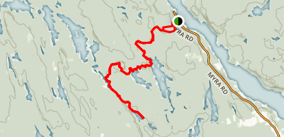 Crowbar Lake Trail to Otter Lake Map