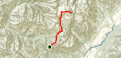 Heiko's Trail to Three Sister's Summit Map