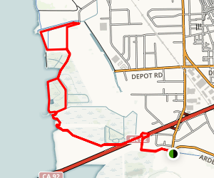 San Francisco Bay Trail over CA 92 Loop Map