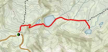 Terrace, Shadow, and Cliff Lakes Map