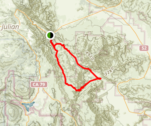 Oriflamme Canyon Loop Trail Map