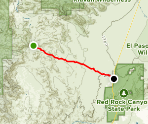 Dove Spring Canyon Trail Map