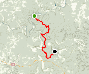 Ozark Trail: Courtois Section Map