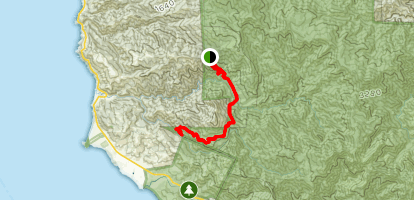 Pico Blanco Trail to Little Sur River Map