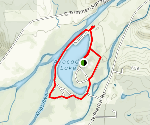 Avocado Lake Rim Trail Map