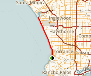 South Bay Beach Bike Path Map