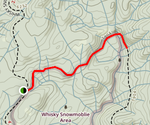 Whiskey Falls Trail Map