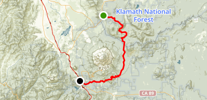 Cougar to Mount Shasta Drive Map