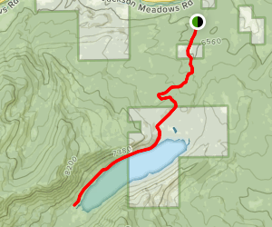 Independence Lake Trail Map