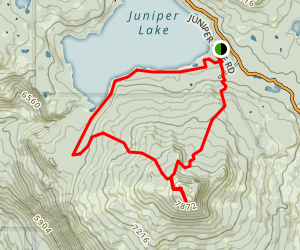 Mount Harkness Loop Trail Map