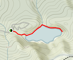 Kangaroo Lake Trail Map