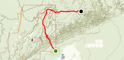 Last Chance Canyon Drive Map