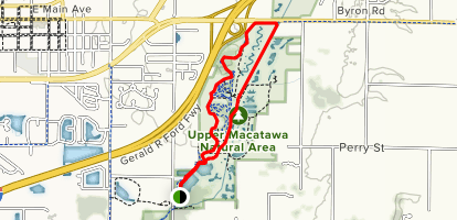 Upper Macatawa Natural Area Map