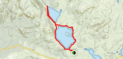 Island and Night Lakes Map