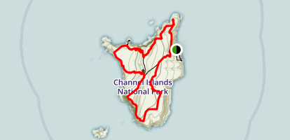 Santa Barbara Island Loop Map