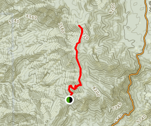 Slate Mountain via Windy Gap Trail Map