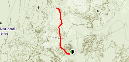 Hole-in-the-Wall to Mid Hills Loop Map